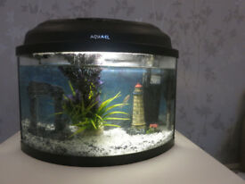 22 l aquarium, Aqua EL Classic 40, tropical or cold water+bubbles+gravel+monuments+filter+heater