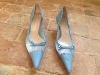 Blue kitten heels by Jane Shilton size 7