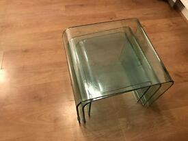 Glass nest of tables