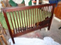 Headboard and bed end Mahogany/Rosewood