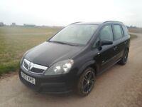 2008(57),Vauxhall Zafira 1.6L petrol Manuel.Long MOT