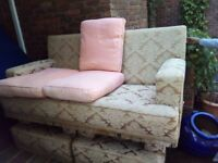 Three Seater Sofa. Traditionally upholstered with Designers Guild removable covers