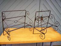 Wrought Iron Shop Retail Display Hanging Rails..Kitchen Shelves