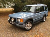 2001 LANDROVER DISCOVERY 2.5 ES RARE LIGHT BLUE (New mot) Great looking 4X4! 7 seats! FSH Tow pack!