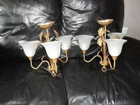 2 matching ceiling lights