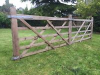 Pair of 5 Bar Wooden Gates for Sale