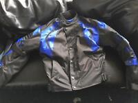 Cordura motorbike jacket Medium (M) - blue black