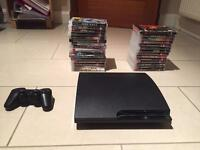 120 GB PlayStation 3 slim with 32+ games