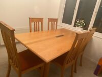 Dining Table with 6 chairs - Solid Wood