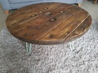 Handmade Cable Drum Coffee Table