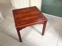 Solid Yew Square Coffee Table