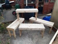 Palletwood benches