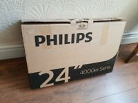 BRAND NEW BOXED Philips 24PFT4022/05 24 Inch Full HD TV,BUILT IN FREEVIEW HD. NO BASE STAND