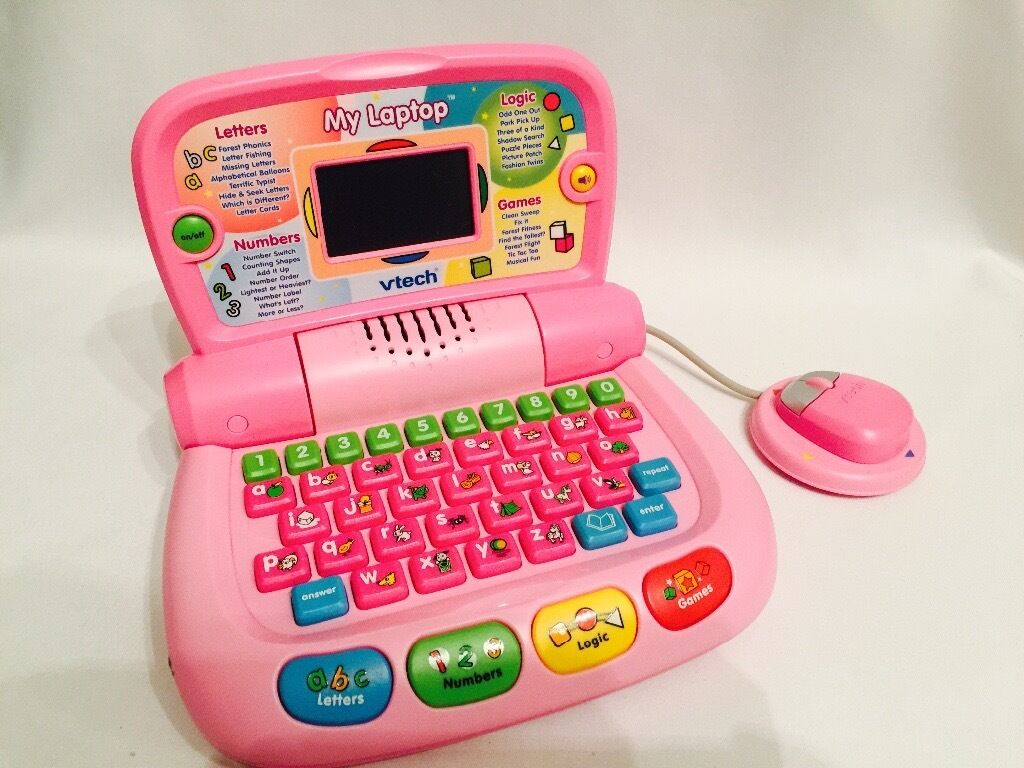 Vtech My Laptop Pink Educational Learning Toy Letters, Games, Music and Numbers.