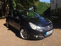 BLACK VAUXHALL CORSA SXI 3DR 1.2 2008 FOR SALE, LOOKS BRAND NEW