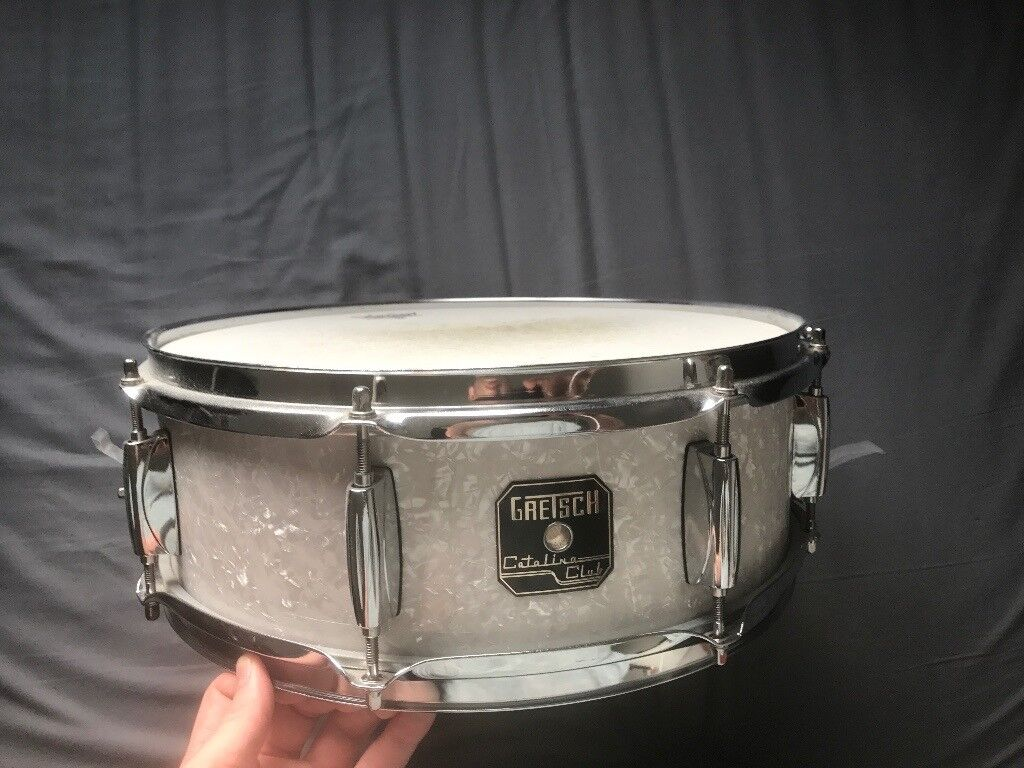 Gretsch Catalina Pearl Snare Drum with Gator Case
