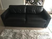 Leather 3 Seater Sofabed