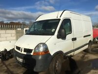 Renault master 2.5 dci 2005 year spare parts bumper bonnet wing light radiator door wheel
