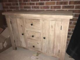 Solid wood side board 2 parts