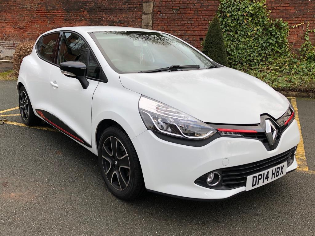 2014 renault clio media nav 1 2 white genuine low mileage key less entry sat nav px swap ford. Black Bedroom Furniture Sets. Home Design Ideas