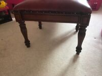 Antique Chair with foot stool