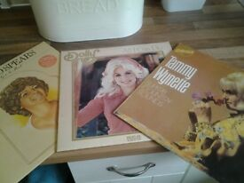 3 C & W LPs by Billie Jo Spears, Tammy and Dolly.