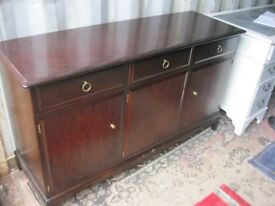QUALITY 'STAG' SIDEBOARD CABINET. VERSATILE LOCATION USAGE. STURDY PIECE. VIEW/DELIVERY AVAILABLE
