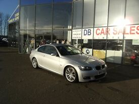 2007 57 BMW 3 SERIES 2.0 320D M SPORT 2D 175 BHP***GUARANTEED FINANCE***PART EX WELCOME***