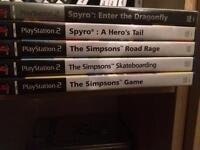 Spyro / Simpsons Sony ps2 games