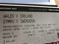 1 x Cat A Wales Vs Ireland 6 Nations 2017 Ticket