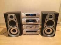 Technics DV280 Stereo Hi-Fi System Set WITH SPEAKERS