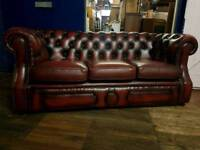 Oxblood Chesterfield 3 Seater Sofa