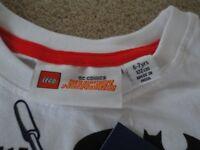 Lego Super Heros Batman & Robin T Shirt - Age 6/7 Yrs - BRAND NEW WITH TAGS