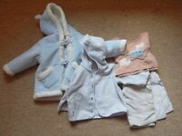 baby boy clothes bundle 0-3 and 3-6 mths and booties