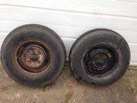 Pair mini wheels for trailer