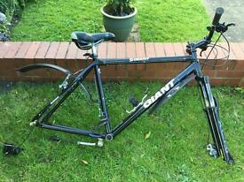 Giant XCR 7005 bike frame, forks, gears.