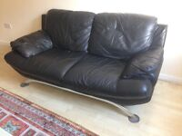 2* Italian leather sofa