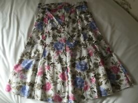 M&S Floral Skirt