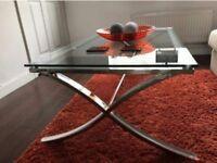 Harveys Glass / Chrome coffee table.