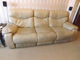 Leather Recliner 3 seater sofa / settee