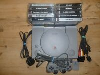 PS1 GAMES CONSOLE WITH GAMES