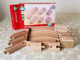 Wooden railway track boxed pack