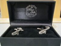 Hand Crafted English Pewter Saxophone Cufflinks