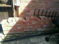 Used red bricks