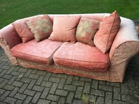 Extremely comfortable 3 seater Sofa and Armchair , complete with cushions
