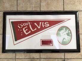 ELVIS PRESLEY RARE 1956 COTTON BOWL FELT PENNANT