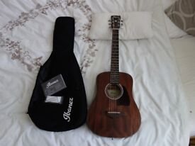 IBANEZ 3/4 Acoustic guitar - AW54mini - only 2 months old, perfect condition!