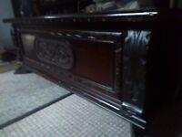 Beautiful ornate wooden trunk