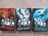 Alex Rider books 1, 2 & 3, by Anthony Horowitz, for kids aged 9+ years