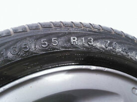 Set of 4 x 13'' Genuine Fiat alloy rims, with tyres